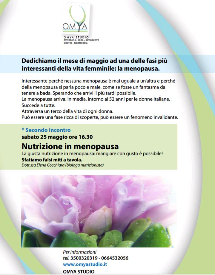 La Nutrizione in Menopausa