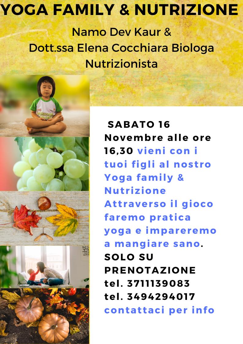 Family Yoga & Nutrizione