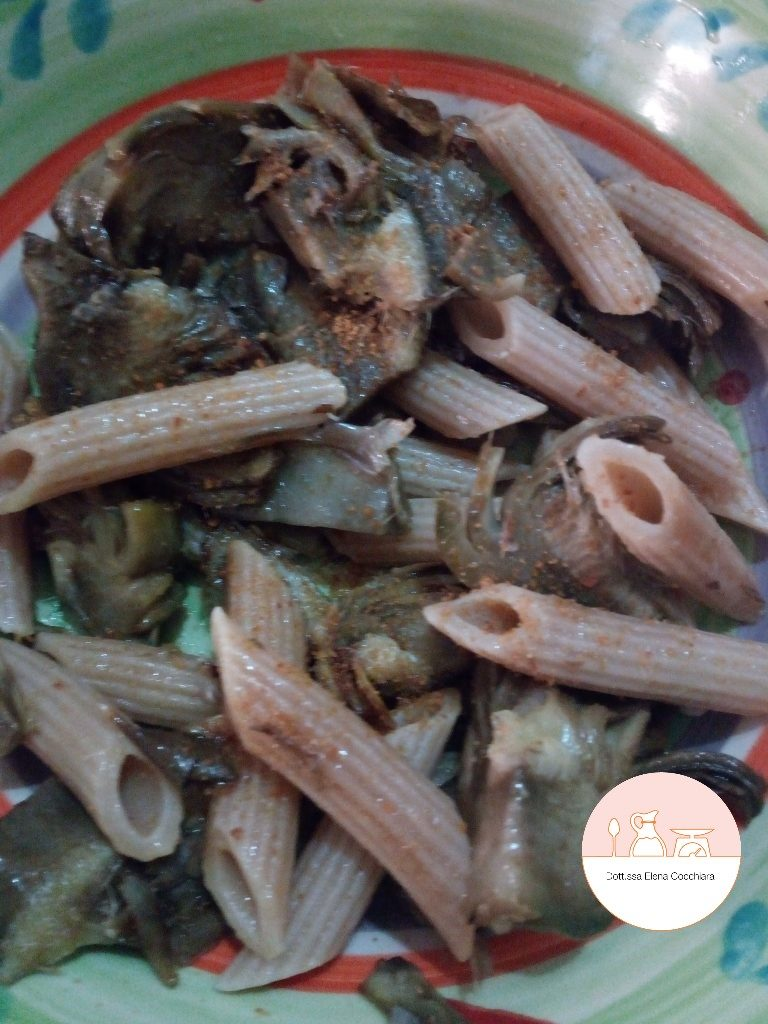 Pasta Integrale con i Carciofi e la Bottarga
